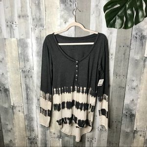Free People We The Free Gray Watercolor Top